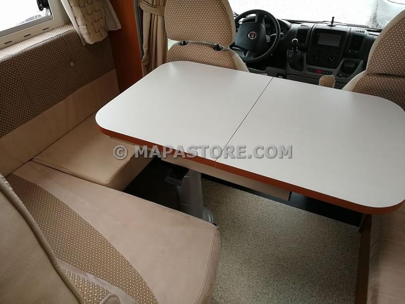 Tavoli Per Camper Allungabili.Trasformazioni Dinette Camper Mapastore Com