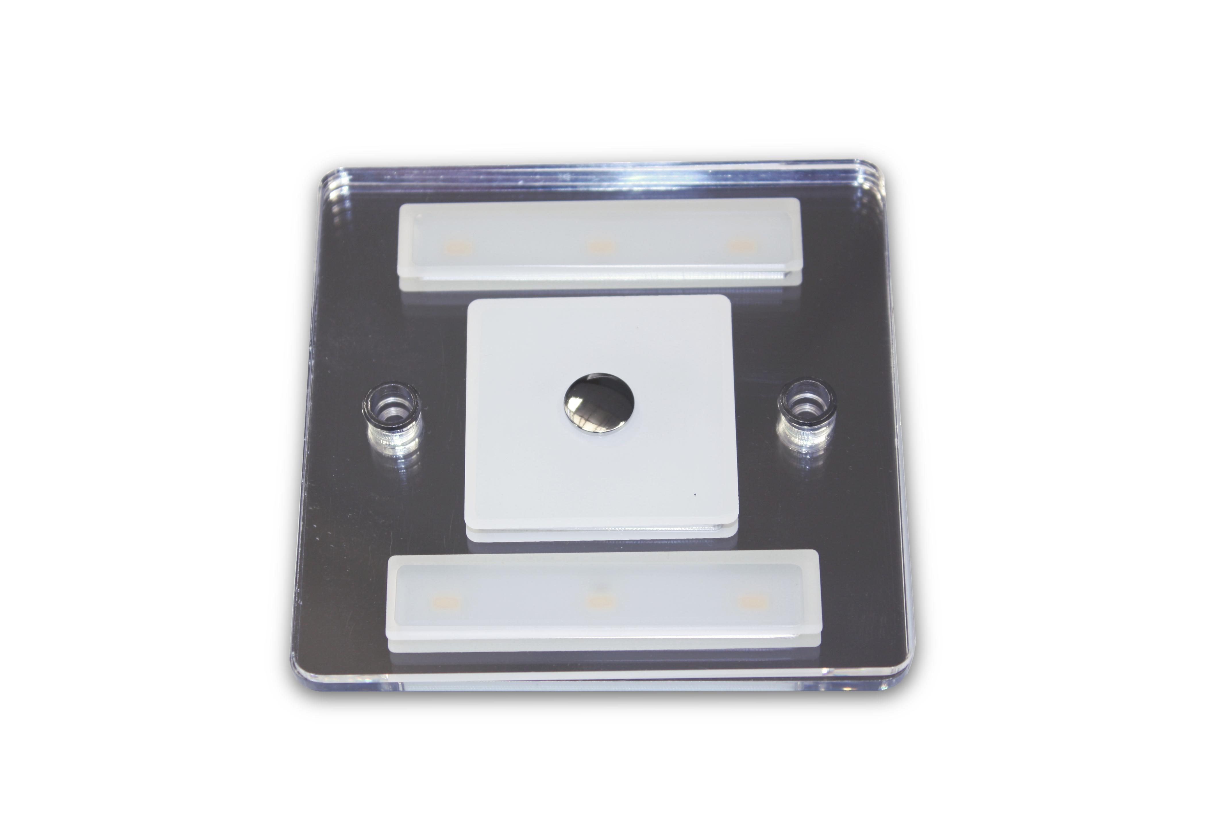 Plafoniera A Led 4000k : Plafoniera quadrata led 4000k 3 2w con interruttore touch dimmer