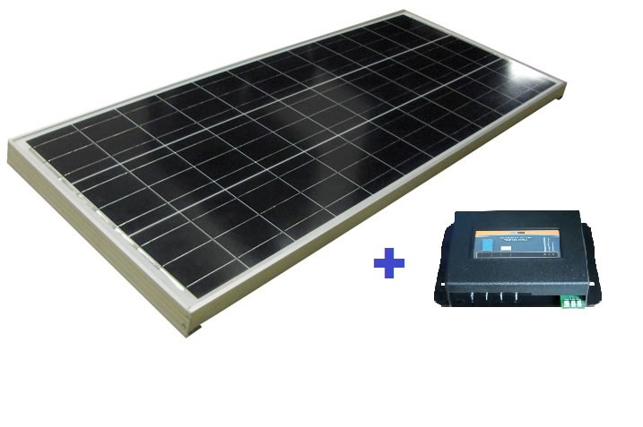 Regolatore Di Carica Pannello Solare : Kit pannello solare w regolatore inovtech mapastore